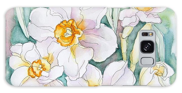 Spring Daffodils Galaxy Case by Inese Poga