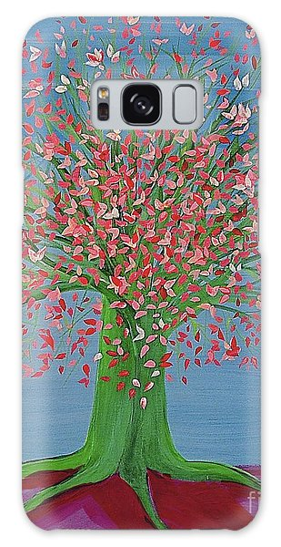 Spring Fantasy Tree By Jrr Galaxy Case by First Star Art