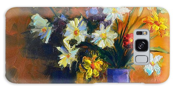 Spring Flowers In A Vase Galaxy Case