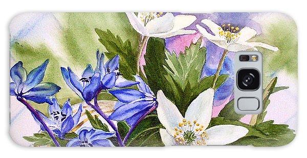 Galaxy Case featuring the painting Spring Flowers by Irina Sztukowski
