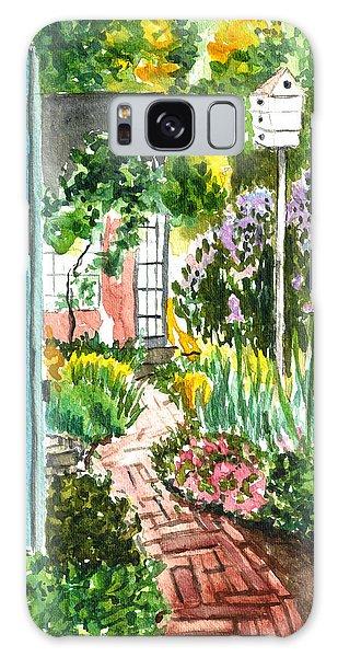 Spring Garden Galaxy Case by Clara Sue Beym