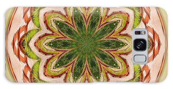 Spring Grasses Mandala Galaxy Case by Bill Barber