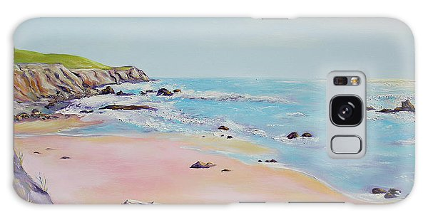 Spring Hills And Seashore At Bowling Ball Beach Galaxy Case