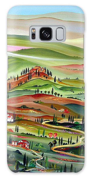 Spring In Val D Orcia Toscana Galaxy Case