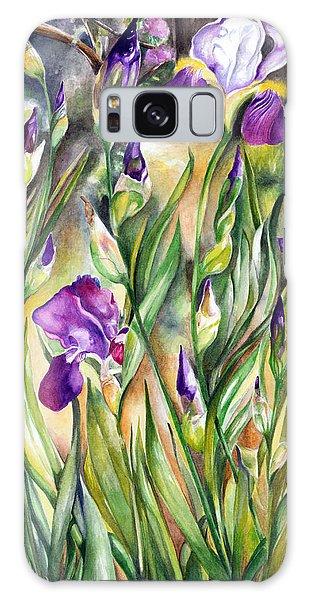 Spring Iris Galaxy Case by Nadine Dennis