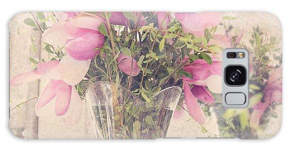 Spring Magnolias Galaxy Case by Sally Simon