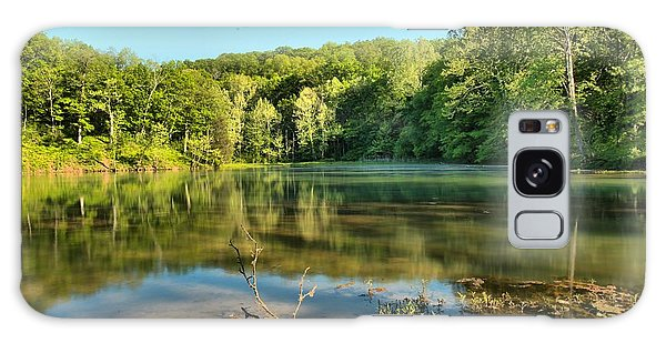 Spring Mill Lake Galaxy Case by Adam Jewell