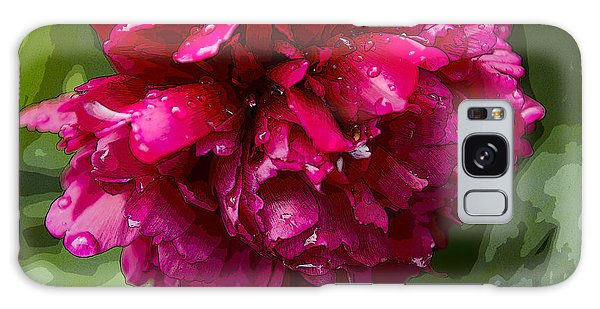 Spring Shower Peony 2 Galaxy Case by Jeanette French