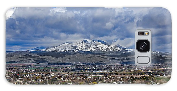 Haybale Galaxy Case - Spring Snow On Squaw Butte by Robert Bales