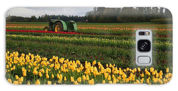 Spring Tulip Fields Galaxy Case