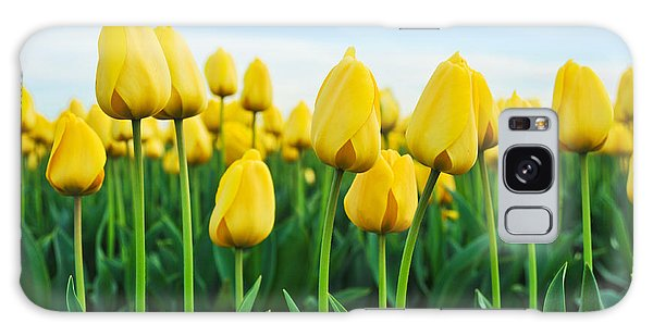 Spring Tulips Galaxy Case by Crystal Hoeveler
