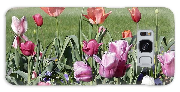 Spring Tulips For My Son Galaxy Case by Angelia Hodges Clay