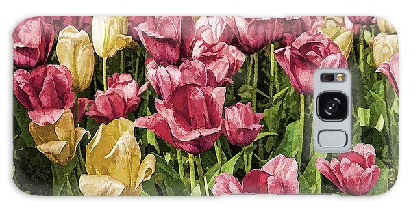 Spring Tulips Galaxy Case by Linda Blair