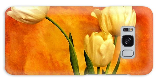 Spring Tulips Galaxy Case by Marsha Heiken