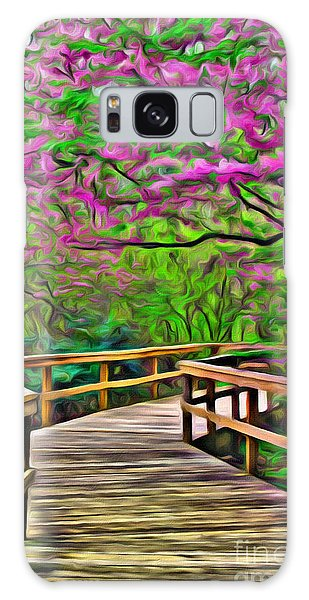 Spring Walk - Paint Rendering Galaxy Case