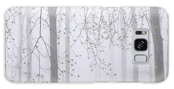 Spring Woodland Fog 2 Galaxy Case by Alan L Graham