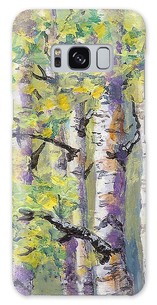 Springtime Birches Galaxy Case