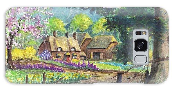 Springtime Cottage Galaxy Case by Carol Wisniewski