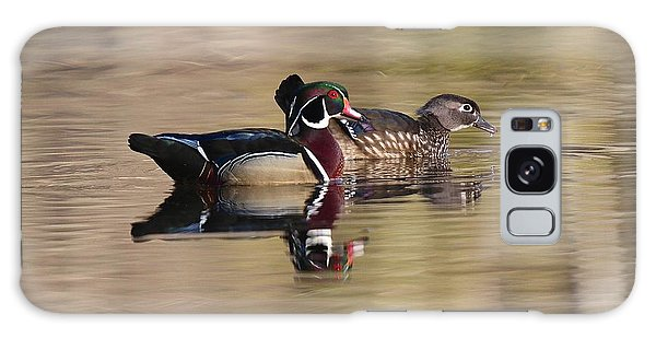 Springtime Wood Duck Pair Galaxy Case