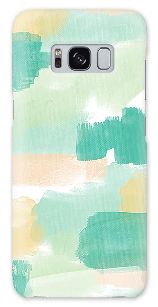 Peach Galaxy Case - Spumoni- Abstract Painting by Linda Woods