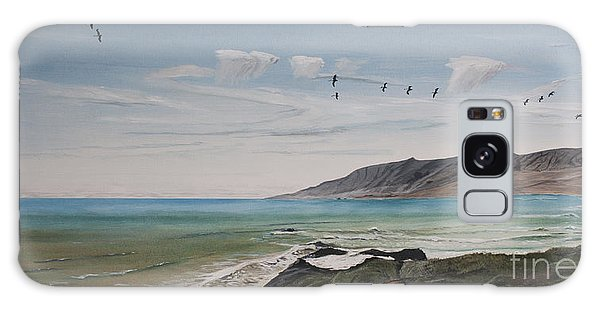 Squadron Of Pelicans Central Califonia Galaxy Case by Ian Donley