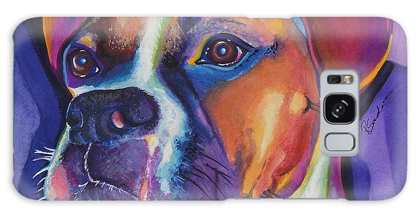 Square Boxer Portrait Galaxy Case