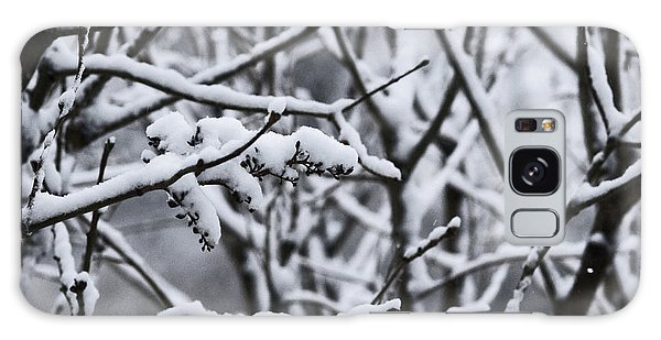 Square Snowy Branches Galaxy Case by Birgit Tyrrell