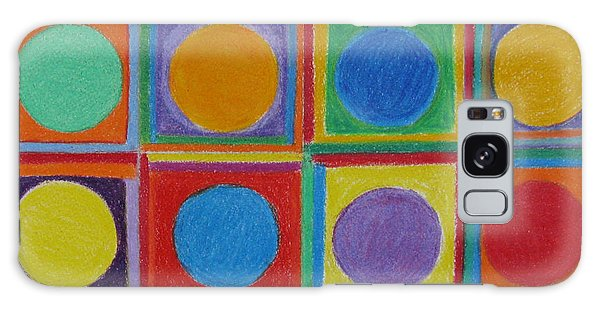 Squares And Circles Galaxy Case by Patricia Januszkiewicz