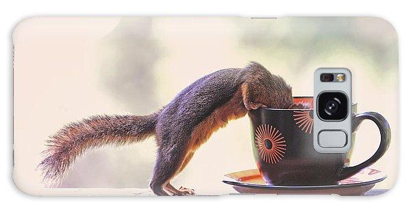 Squirrel And Coffee Galaxy Case