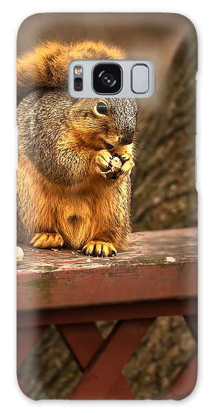 Squirrel Eating A Peanut Galaxy Case
