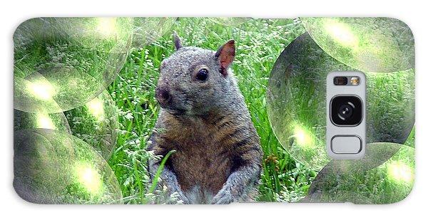 Squirrel In Bubbles Galaxy Case