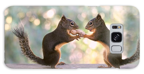 Squirrels That Share Galaxy Case by Peggy Collins