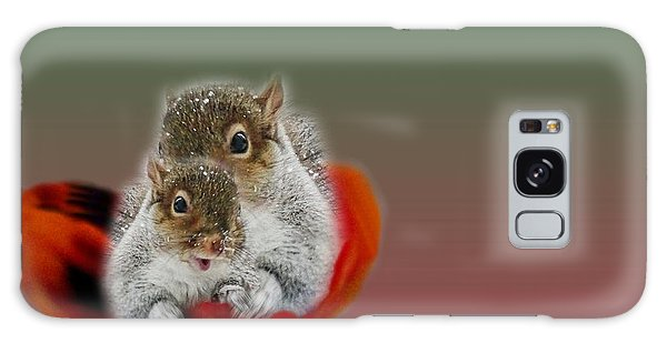 Squirrels Valentine Galaxy Case by Mike Breau