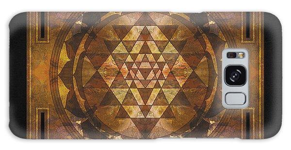Buddhism Galaxy Case - Sri Yantra Gold by Filippo B