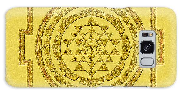 Sri Yantra In Gold Galaxy Case