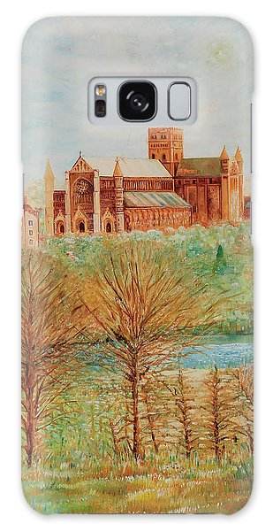 St Albans Abbey - Autumn View Galaxy Case by Giovanni Caputo