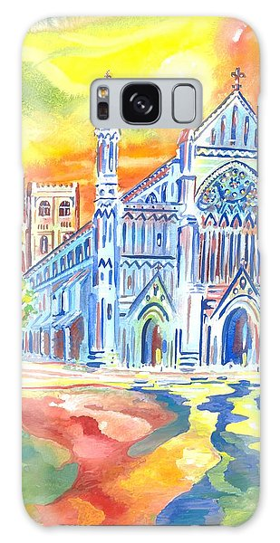 St Albans Abbey - Rainbow Celebration Galaxy Case by Giovanni Caputo