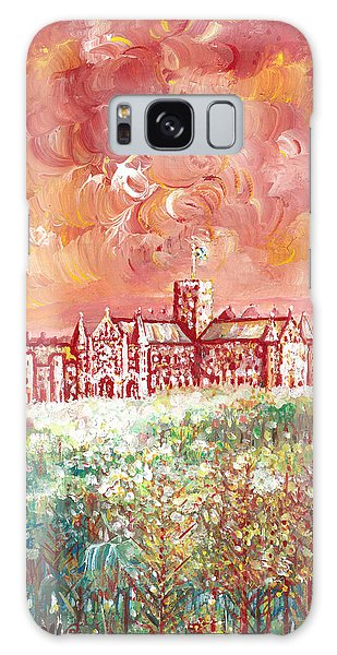 St Albans Abbey - Stormy Weather Galaxy Case by Giovanni Caputo