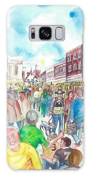 St Albans - Market People Galaxy Case by Giovanni Caputo