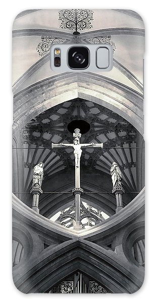 St Andrews Cross Scissor Arches Of Wells Cathedral  Galaxy Case