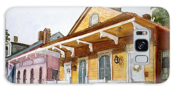 St. Ann Street Scene - French Quarter Galaxy Case
