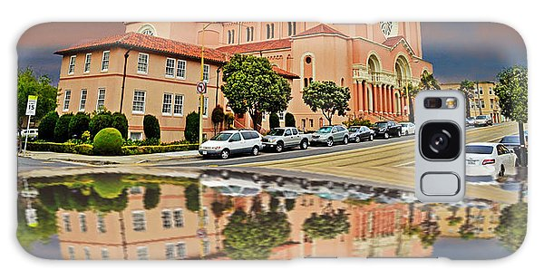St Anne Church Of The Sunset In San Francisco With A Reflection  Galaxy Case by Jim Fitzpatrick