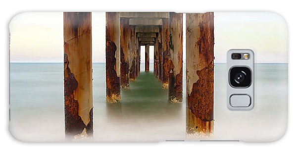 St. Augustine Beach Pier Galaxy Case