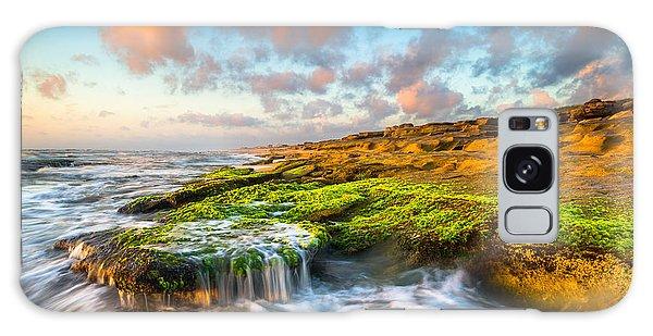 St. Augustine Fl Beach Sunrise - The Coquina Coast Galaxy Case