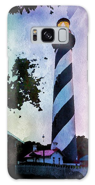 St. Augustine Lighthouse Sunset Galaxy Case