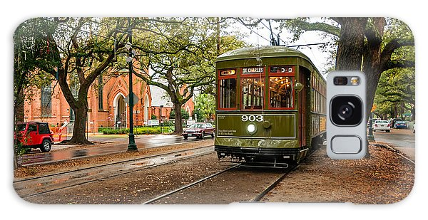 St. Charles Ave. Streetcar In New Orleans Galaxy Case