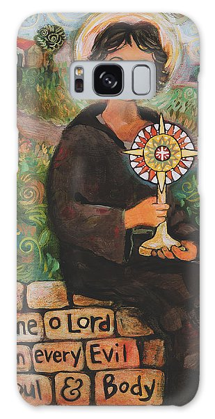 St. Clare Of Assisi Galaxy Case