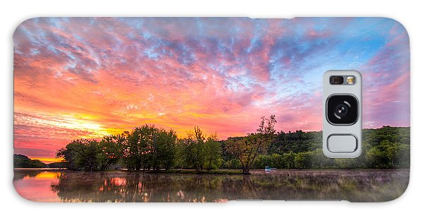 St. Croix River At Dawn Galaxy Case