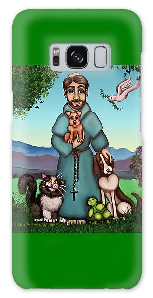 St. Francis Libertys Blessing Galaxy Case