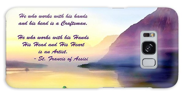 St Francis Of Assisi Quotation Galaxy Case